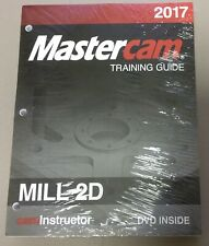 Mastercam Mill 2D 2017 Training Guide Textbook & DVD Free Shipping