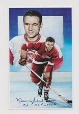 """1992 Doug West Hockey HOF Norm Ullman Red Wings Autographed 3 1/2"""" x 5 1/2"""" Card"""
