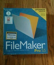 Filemaker Pro 5.5 Upgrade with Serial Number for Mac - NEW