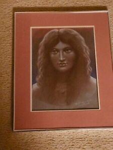 "Vtg. JOSEF M. KOZAK Original Artwork ""THE SPHINX"" Painting/Drawing Framed Signed"