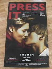 TAEMIN (SHINee) - PRESS IT (TYPE B) [ORIGINAL POSTER] *NEW* K-POP
