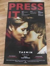 TAEMIN (SHINee) - PRESS IT (TYPE B) [ORIGINAL POSTER] *NEW* K-POP