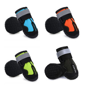 Pet Shoes Waterproof Outdoor Dog Anti-Slip Shoes Reflective Boots big dog shoes