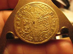 1599  , 28.mm Unknown  Brass( looks gold gild? not sure) Token High Grade rare!