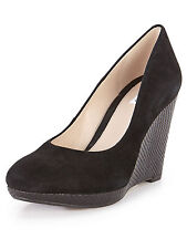 Clarks Suede Wedge Slip On Shoes for Women