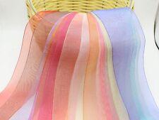 "10 Meter 25mm(1"") Sheer Organza Ribbon Gift Bow Wedding Craft 10 Color"