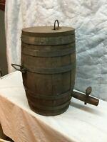 VINTAGE ANTIQUE 18 Tall x 11in diameter  WOOD BEER WHISKEY KEG BARREL