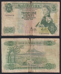 Mauritius 25 rupees 1967 MB/F  C-05