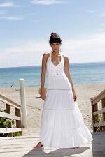 YACHT CLUB Organic Cotton Crochet Nautical Maxi Halter Dress