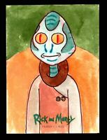 2019 Rick and Morty Season 2 Artist Sketch Card Cryptozoic by Al Stefano