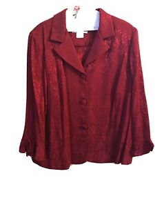 jessica howard 20w Jacket / Top Red Floral Jaquared