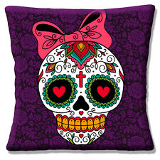 "NEW Vintage Retro Mexican Sugar Skull Day of the Dead 16"" Pillow Cushion Cover"