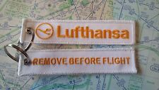 Lufthansa remove before flight keyring keychain Germany Deutschland