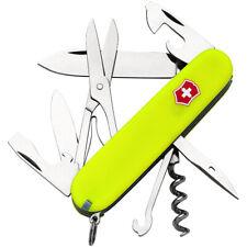 Victorinox Swiss Army StayGlow Climber Pocket Knife - Fluorescent Yellow