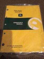 John Deere 9000 Series Grain Drills Operator's Manual OM-N200042 NOS