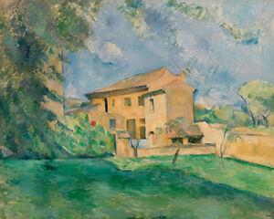 The Farm at the Jas de Bouffan by Paul Cézanne 60cm x 48cm Art Paper Print
