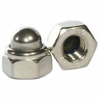 M4 - M12 A2 Stainless Steel Domed Nyloc Nuts Nylon Insert Nylock Dome Nut DIN986