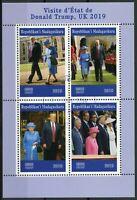 Madagascar 2019 CTO Donald Trump Visit Queen Elizabeth II 4v M/S Royalty Stamps
