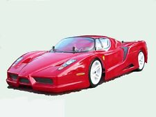 1:10 RC Clear Lexan Body Enzo Ferrari 200mm Nitro or Electric Colt or Tamiya etc
