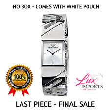 Emporio Armani AR5740 Square Cluff Women Silver Steel Bracelet Silver Dial