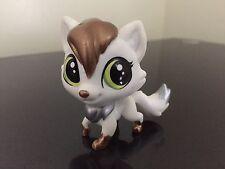 Littlest Pet Shop Fox # 45 White Gold Silver Green Eyes USA Seller