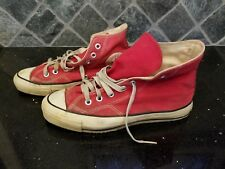 New listing Vintage - Converse All Star Chuck Taylor - Red - 7 Men 9 Women - Usa Made