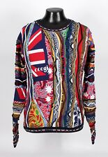 $575 COOGI FLAG Crewneck Sweater - Great Colors - L XL