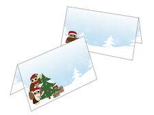Happy Eule 50 Tischkarten Namenskarten Geschenkanhänger Eulen Weihnachten Xmas