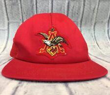 80s VTG nos BUDWEISER ANHEUSER BUSCH TRUCKER Patch SnapBack Hat Union Made USA