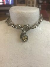 Jewel Kade Medium Chain Link Bracelet Fleur DI Lis Charm Attached