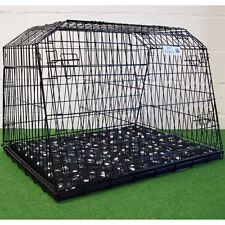 "Pet World 38"" Sloping Car Dog Cage Estate & 4x4 Cages Boot Travel Crate Puppy"