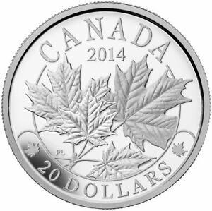 Majestic Maple Leaves - 2014 Canada $20 Fine Silver Coin