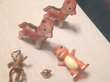 Mixed Lot of 5 Vintage Small Toys   Horses, Indian, Teapot, Nintendo Pokemon