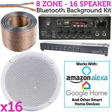 16 x Haut-parleur de plafond Bluetooth FOND Système musique - MAGASIN/RESTAURANT