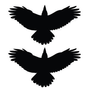 Qty 2 Bird of Prey Stickers, Anti Bird Strike Window Decal Pack X Any Colour
