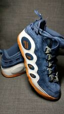 Mens Fila BUBBLES Royal Beginnings Retro Basketball Shoes Navy Suede Gold US 7
