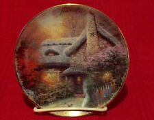 "1998 Thomas Kinkade 5.5"" November Ashley's Cottage Calendar Plate Euc Bradford"