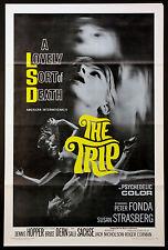 THE TRIP PETER FONDA SUSAN STRASBERG LSD PSYCHEDELIC 1967 1-SHEET