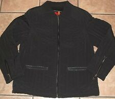 ESPRIT~BLACK QUILTED JACKET~size Large~NEW~LINED Full Zip COAT~NWOT