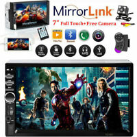 Bluetooth FM MP5 Player 7'' HD Stereo Radio Car Touch Screen + Free Rear Camera