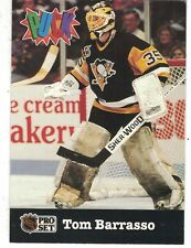 '92 ProSet Puck Milk Chocolate NHL Trading Card Tom Barrasso Pittsburgh Penguins