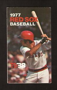 Boston Red Sox--Fred Lynn--1977 Pocket Schedule--WSBK/Star Market