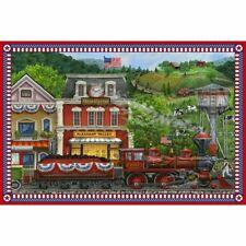 "27"" Fabric Panel - Northcott Digital Print Sweet Land Liberty Country Farm Train"