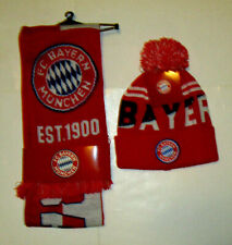 Unisex FC Bayern Munchen Scarf & Beanie Soccer Set Kit, New Official Product