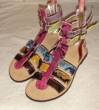 MIMOSA DESIGNER SANDALS / Roman style Snakeskin / multicolor / Vero Cuoio UK4