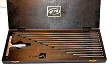NOS MOORE & WRIGHT UK  894M 0-300mm METRIC MICROMETER DEPTH GAGE 12 Rods EB5G.1