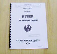Ruger .44 Magnum Carbine Manual - #R1