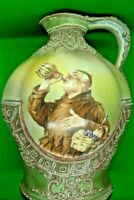 Antique Nippon Hand Painted Moriage Monk Jug