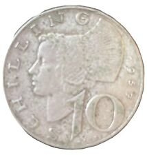 10 SCHILLING 1957 argent