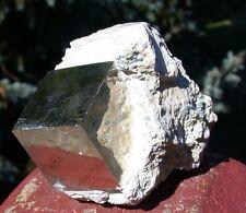 "SiS: PERFECT HUGE 1""+ Pyrite Cube on Natural Matrix - INCREDIBLE SPECIMEN!!"